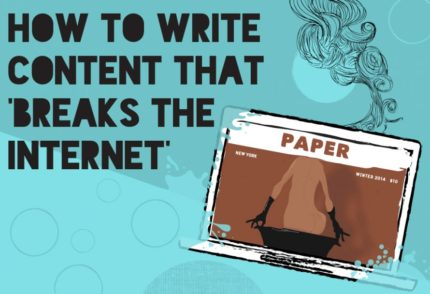 Kim Kardashian Paper Cover, 'How to Write Content that Breaks the Internet'