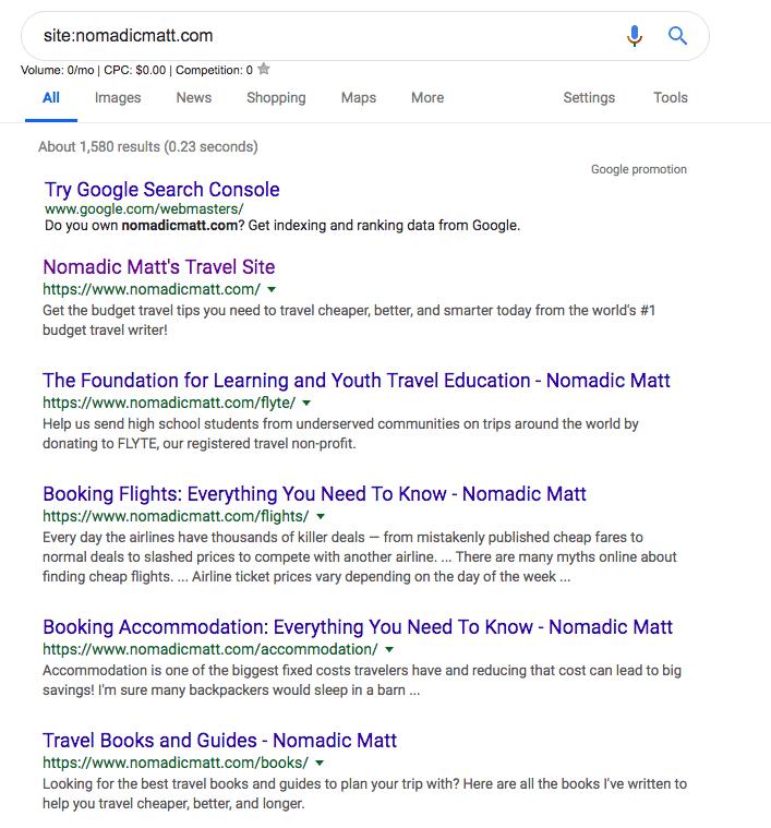 "Site search results for ""NomadicMatt.com"""
