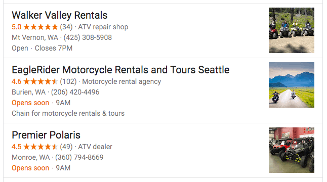 "Google search results for ""atv rentals"""
