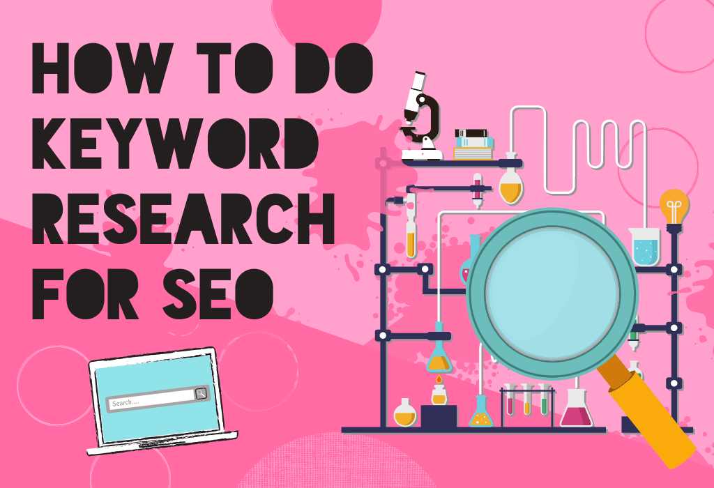 "Featured image graphic, featuring ""How to Do Keyword Research for SEO"""
