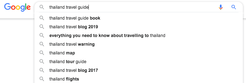 """Google search for """"Thailand travel guide"""""""