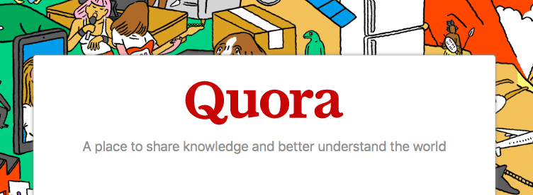 Quora homepage and logo