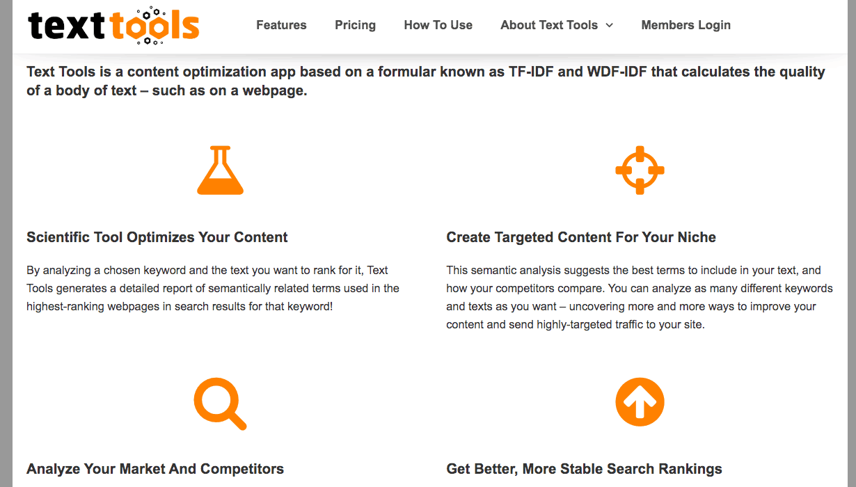 TextTools features