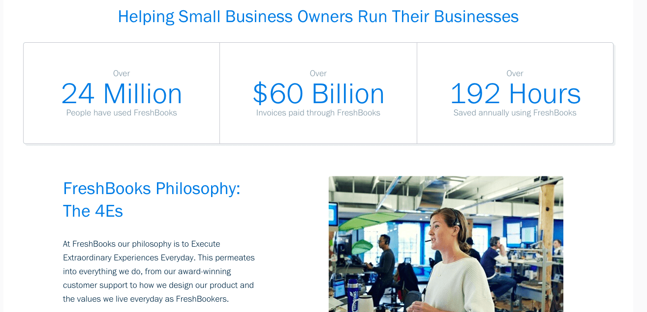 FreshBooks helping small business owners