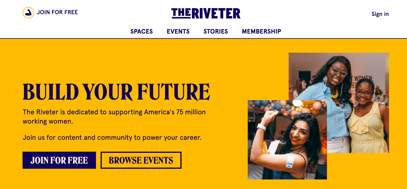 The Riveter home reference