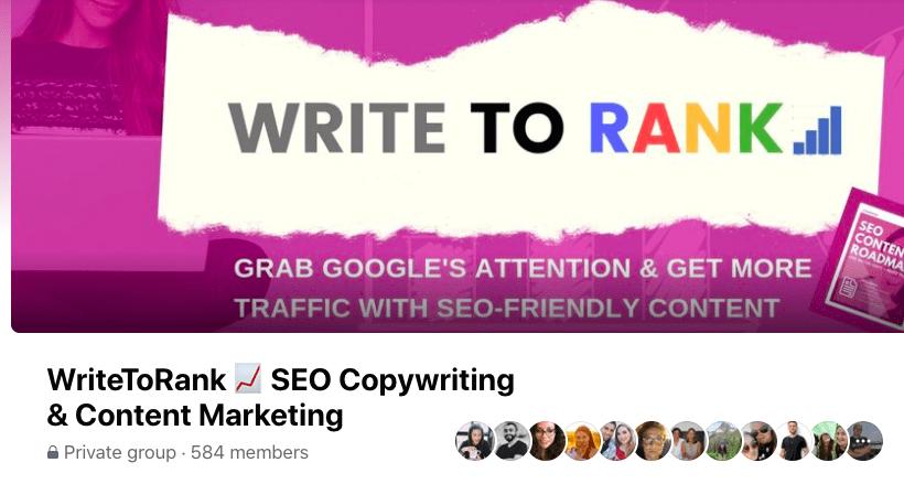WriteToRank Facebook Group