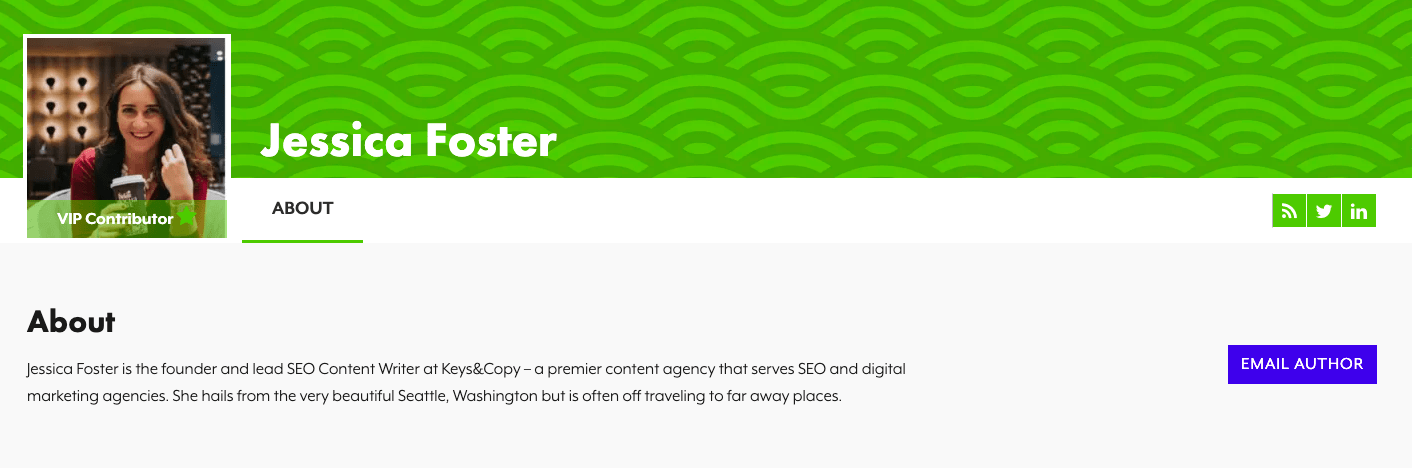 Jessica Foster SEO writer SEJ profile