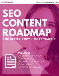 SEO Content Roadmap e-book cover